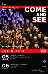 Santiago Gospel Julio 2014- Come and See